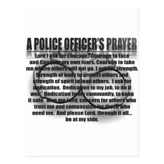 POLICE OFFICERS PRAYER POST CARDS
