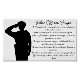 Police Officers Prayer Poster
