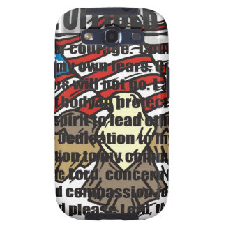 POLICE OFFICERS PRAYER WITH EAGLE SAMSUNG GALAXY SIII CASES