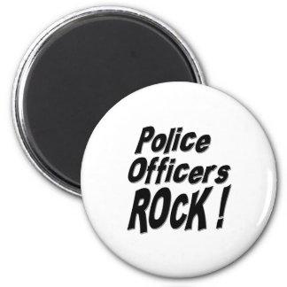 Police Officers Rock! Magnet