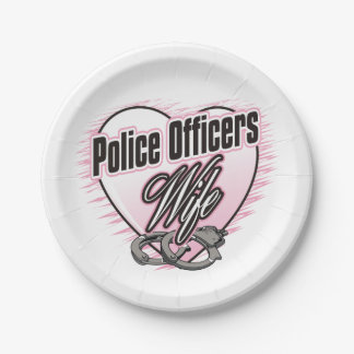 Police Officers Wife Paper Plate
