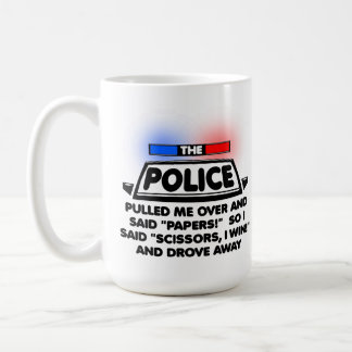 Police Papers Scissors Funny Mug