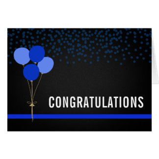 Police Party Style Congratulations Card
