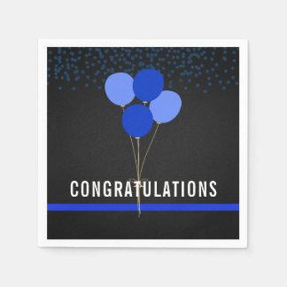 Police Party Themed Congratulations Disposable Napkin