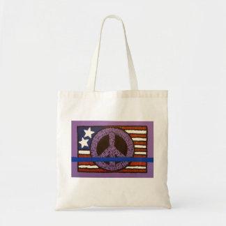 Police Peace Flag Tote Bag
