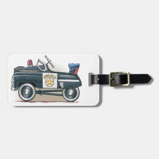 Police Pedal Car Cop Car Luggage Tag
