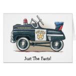 Police Pedal Car Cop Car Note Card