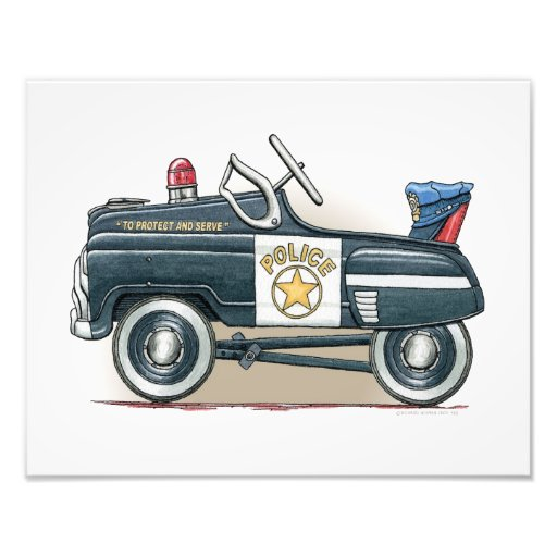 Police Pedal Car Cop Car Photographic Print