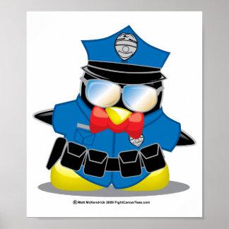 Police Penguin Poster
