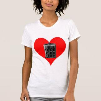 Police Phone Box Heart Light T Shirt