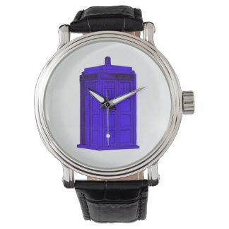 Police Phone Box Timepiece Watch