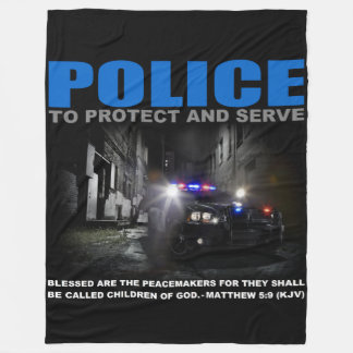 Police Protect And Serve Blue Lives Matter Fleece