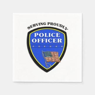 Police Proudly Serving Disposable Serviette