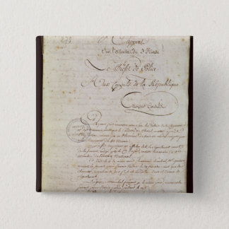 Police Report from the Attendant to Napoleon 15 Cm Square Badge