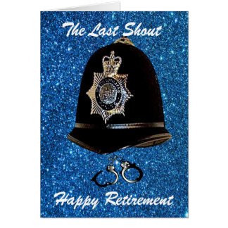 POLICE RETIREMENT GREETING CARD