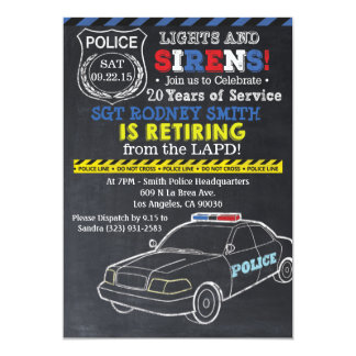 Police Retirement Invitation