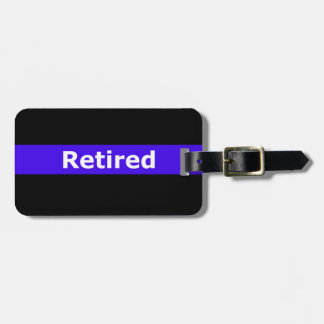 Police Retirted Thin Blue Line Bag Tag