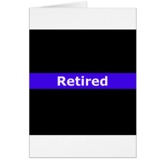 Police Retirted Thin Blue Line Card