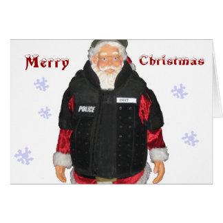 Police Santa Christmas Card