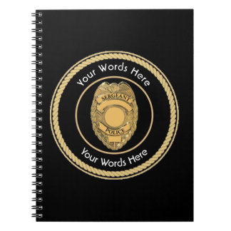 Police Sergeant Badge Universal Spiral Notebook