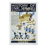 Police Services NYC 1936 WPA Print