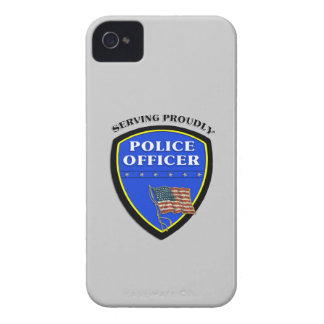 Police Serving Proudly iPhone 4 Case-Mate Case