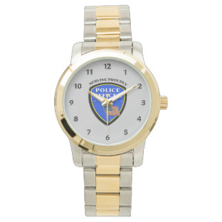 Police Serving Proudly Wristwatch