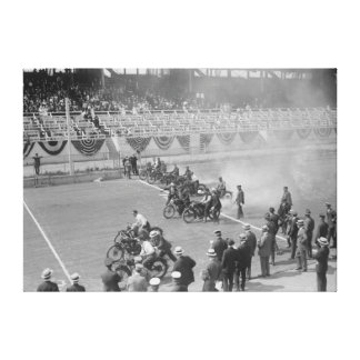 Police Show -- Start of Motorcycle Race Canvas Prints