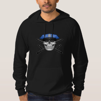 Police Skull and Batons Hoodie