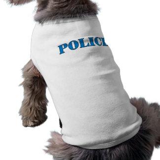 Police Sleeveless Dog Shirt