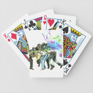 police splatter bicycle playing cards