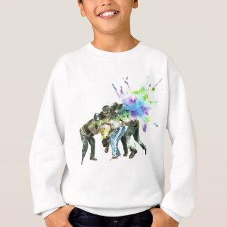 police splatter sweatshirt