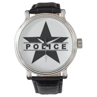 police star text department badge law symbol watch