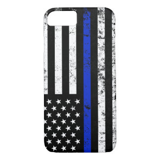 Police Styled Distressed American Flag iPhone 8/7 Case