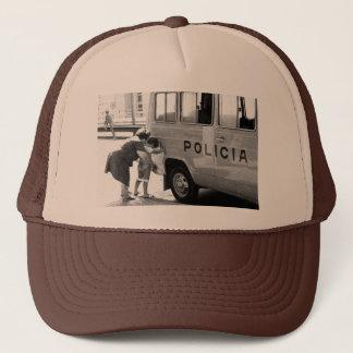 Police sun trucker hat