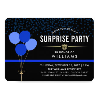 Police Surprise Party Card