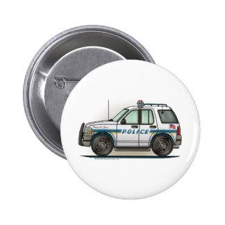 Police SUV Cruiser Car Cop Car Button Pin