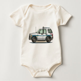Police SUV Cruiser Car Cop Car Infant Creeper