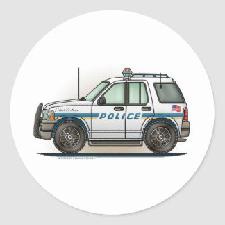 Police SUV Cruiser Car Cop Car Sticker