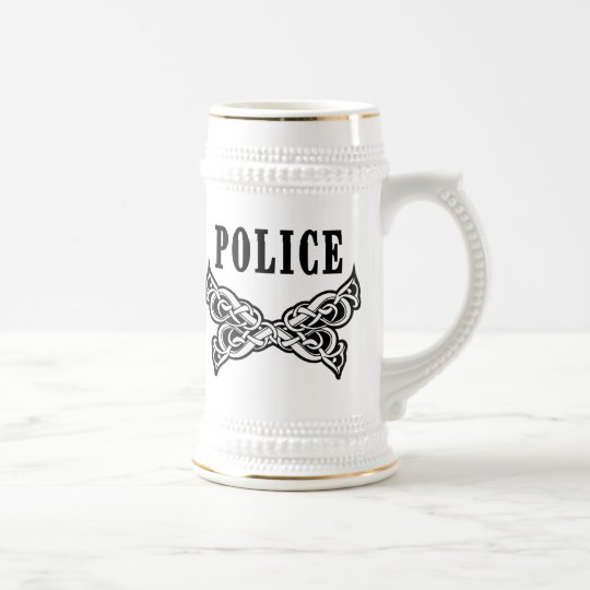 Police Tattoo Beer Stein