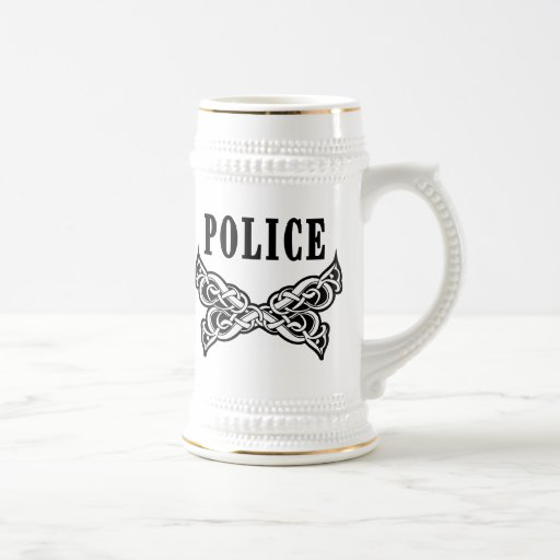 Police Tattoo Beer Steins