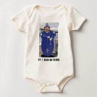 Police Teddy Bear Infant Creeper
