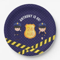 Police themed Birthday Party personalised Paper Plate