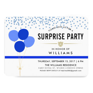 Police Themed Surprise Party Card