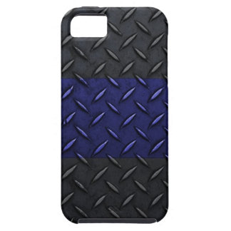 Police Thin Blue Line Diamond Plate Design iPhone 5 Case