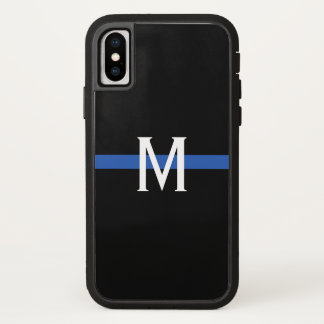 Police Thin Blue Line Monogram iPhone X Case