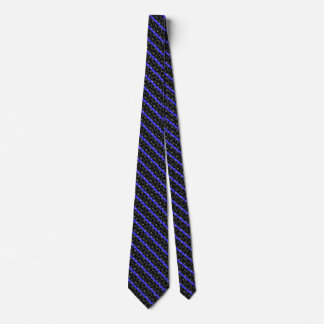 Police Thin Blue Line Stars and Stripes Tie
