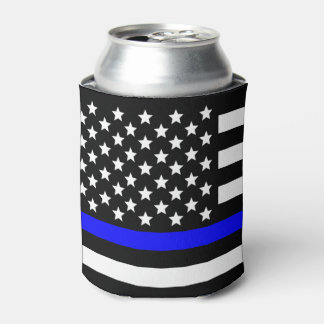 Police Thin blue line support Can Cooler