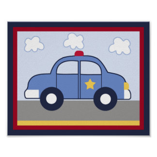 Police Vehicle/Cop Car Hero Print/ Poster #1