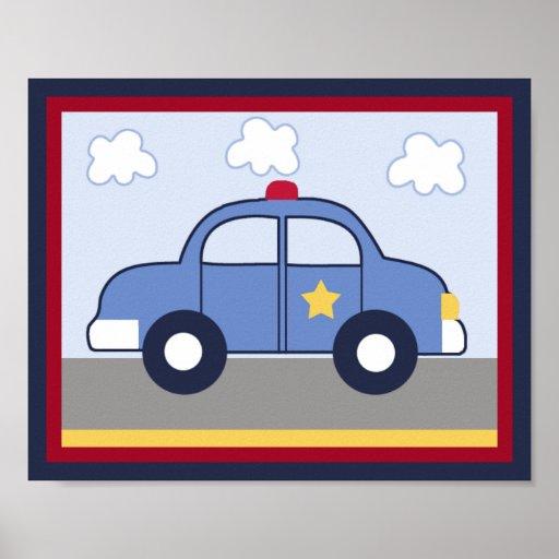 Police Vehicle/Cop Car Hero Print/ Poster #1
